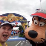 Finish line selfie with Goofy!