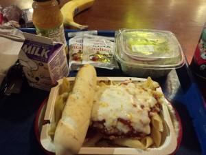 Mmmm... post race dinner lasagna