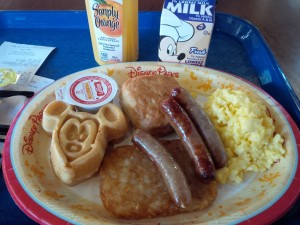 Last meal at Walt Disney World. Even the breakfast is themed!