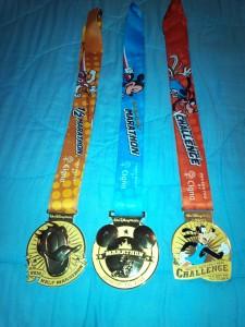 Walt Disney World Goofy Challenge 2016 Medals