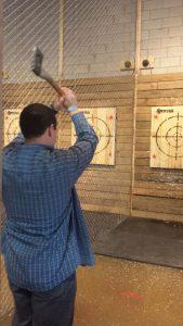 Axe-Throwing at Stryke Target Range