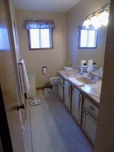 Upstairs bathroom renovation, before