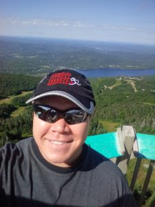 Selfie on the top of Mt. Tremblant