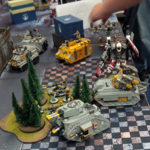 My warhammer 40k models unexpectedly ambushed by that big, red, alien robot