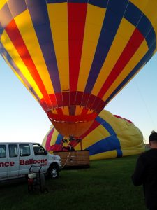 Hot air balloon filled up