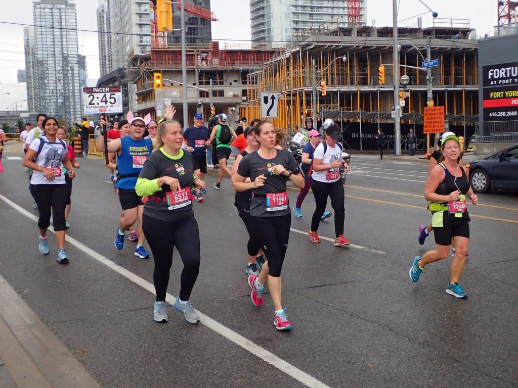 Photo of my pace group around the 7k mark. Thank you to Mark Young for the photo!