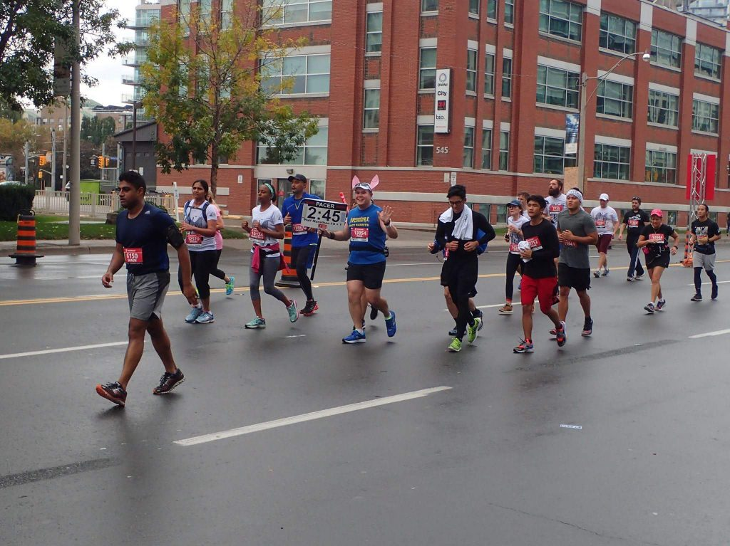 Another great photo of my pace group by Mark Young around the 18km point. the group had thinned out by now.