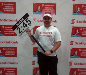 Posing at the Scotiabank Toronto Waterfront Marathon Expo